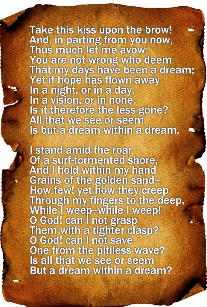 """""""A Dream Within A Dream"""" by Edgar Allan Poe"""