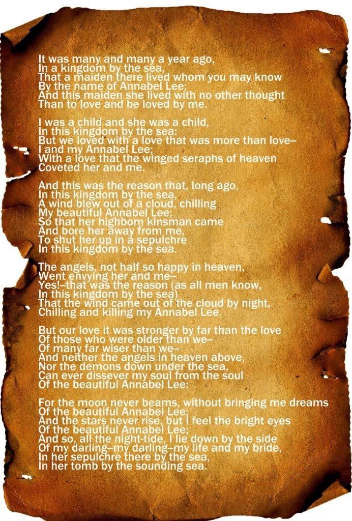 """Annabel Lee"" by Edgar Allan Poe"