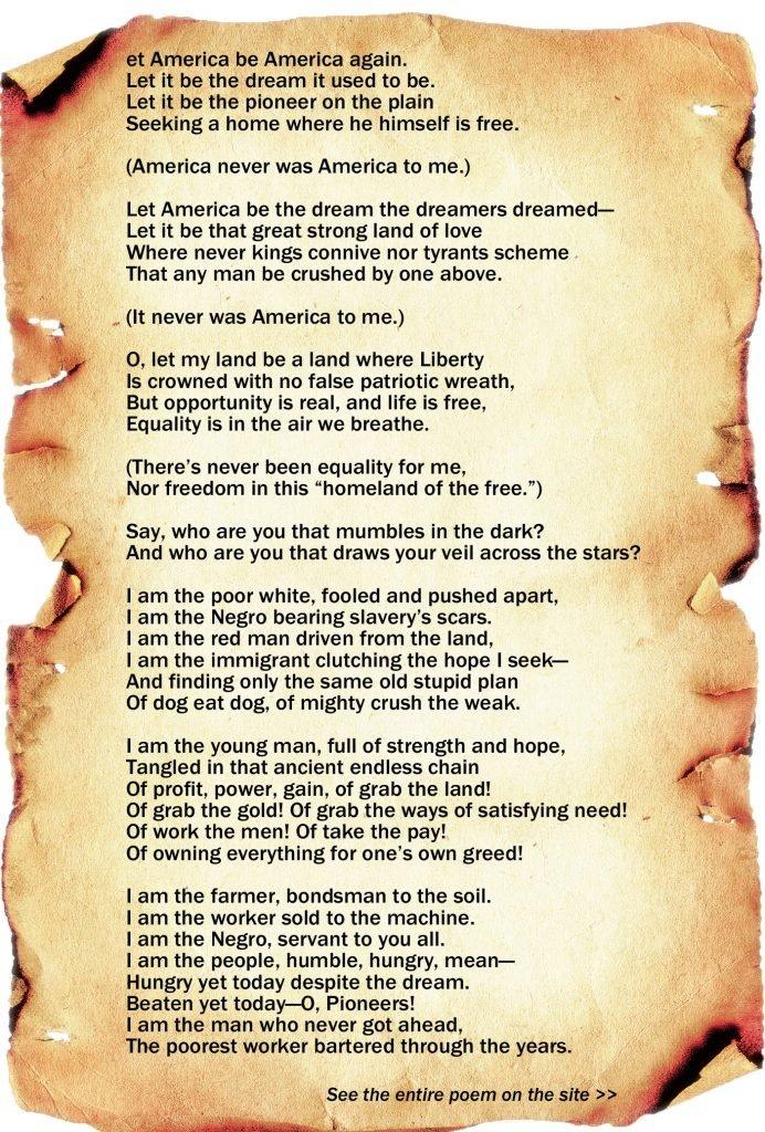 Let America Be America Again by Langston Hughes