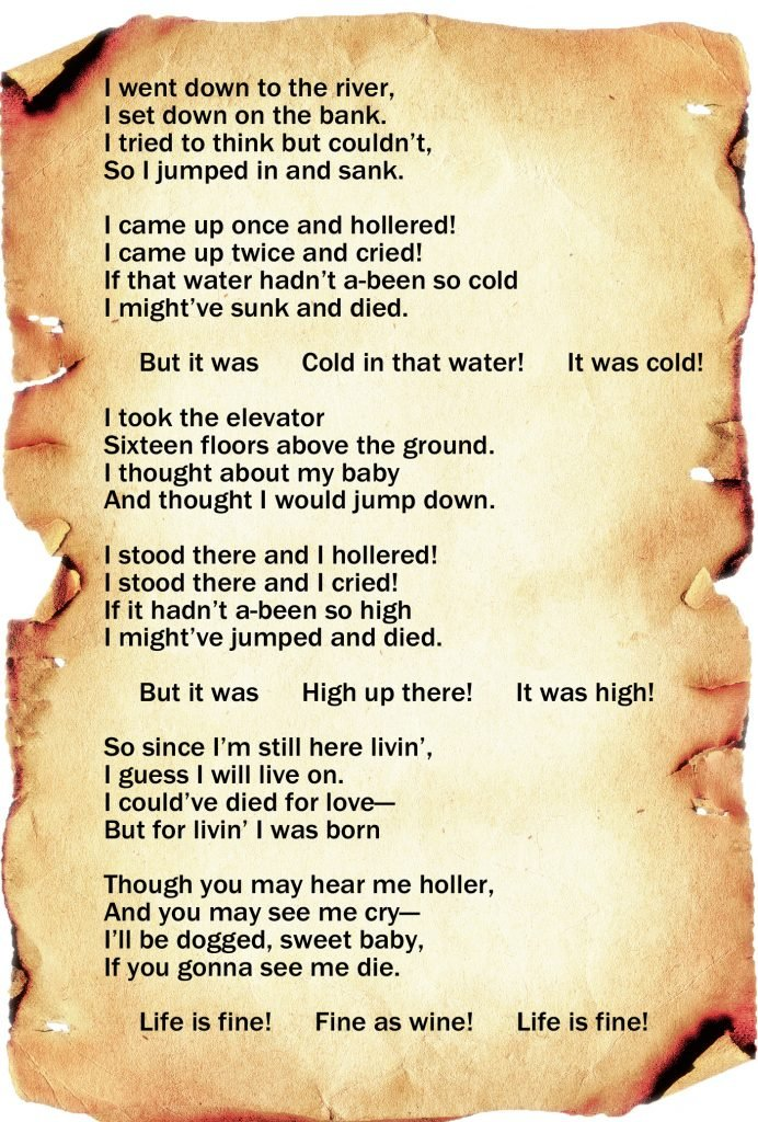 Life Is Fine by Langston Hughes